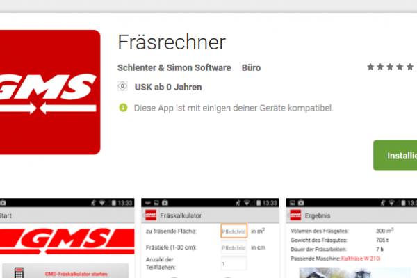 GMS Fräsrechner App
