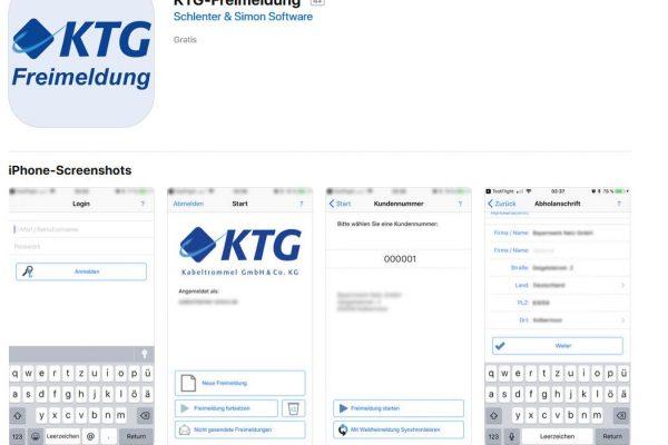 Entwicklung einer Freimelde-App für die KTG