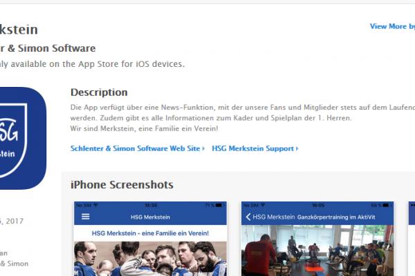 iPhone App für die HSG Merkstein